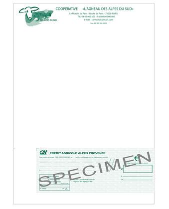 Lettre chèque